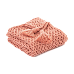 Shiva Coral Knitted Throw