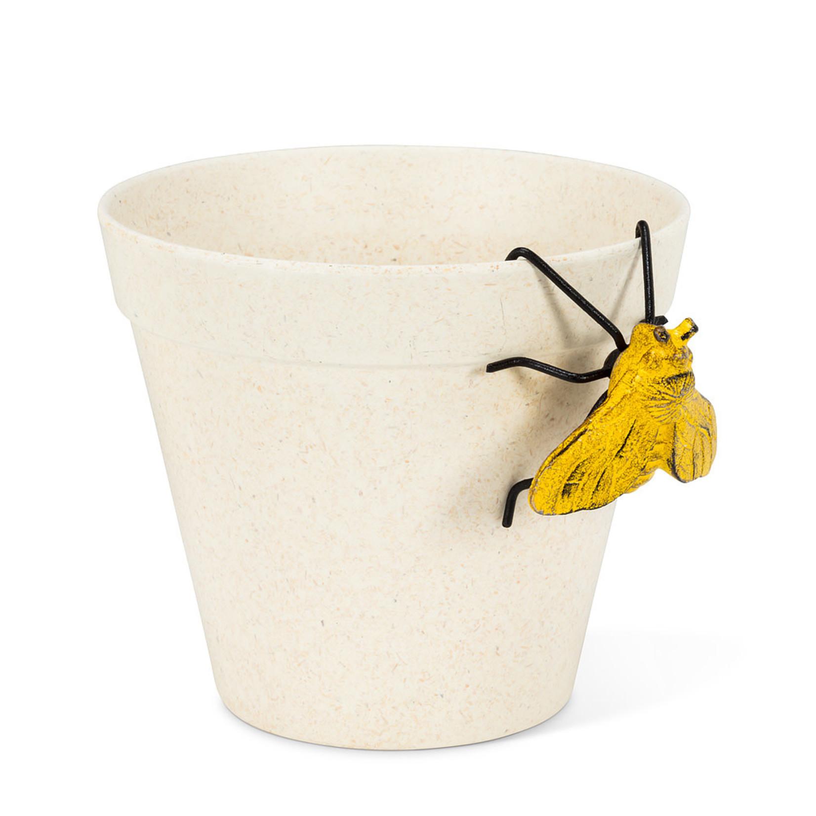Yellow Hanging Bee Pot Hanger