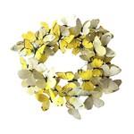 Yellow Paper Butterfly Wreath - Medium