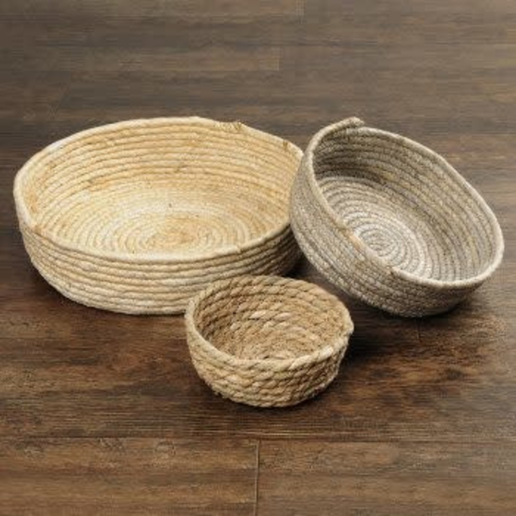 Corn Husk Rope Basket Trays