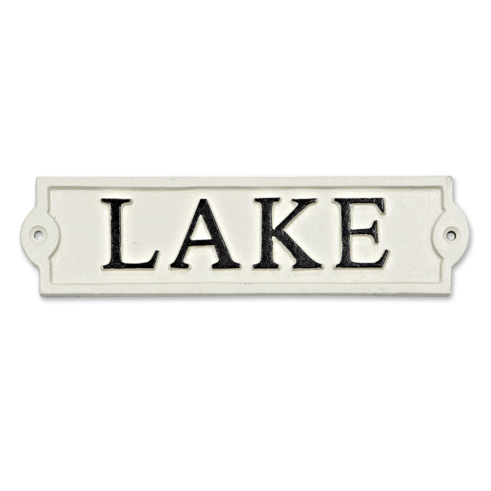 Lake Sign - Antq. Wht