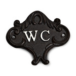 WC Sign - Black