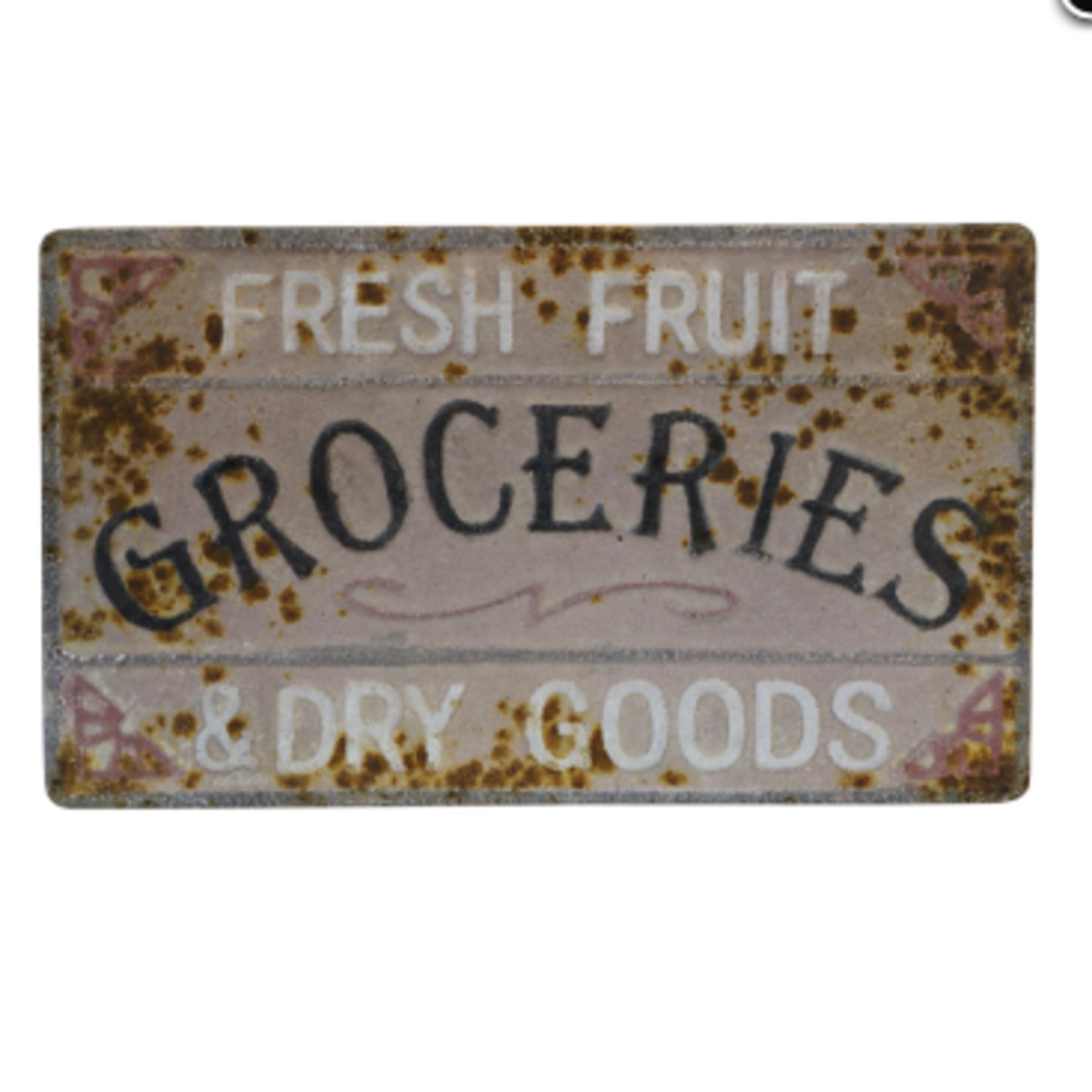 At Groceries Tin Sign