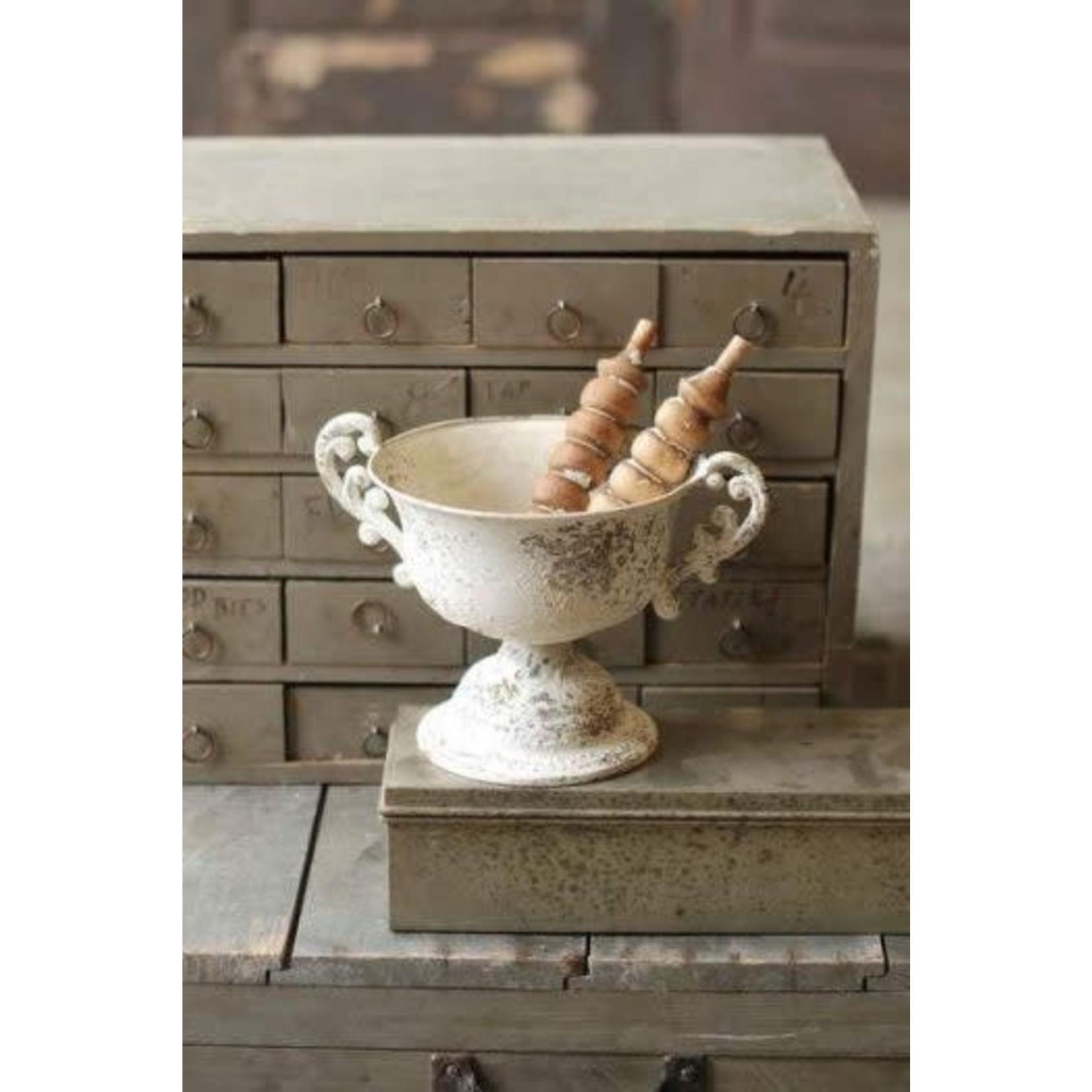 Amorial Urn w/Handles - Cream