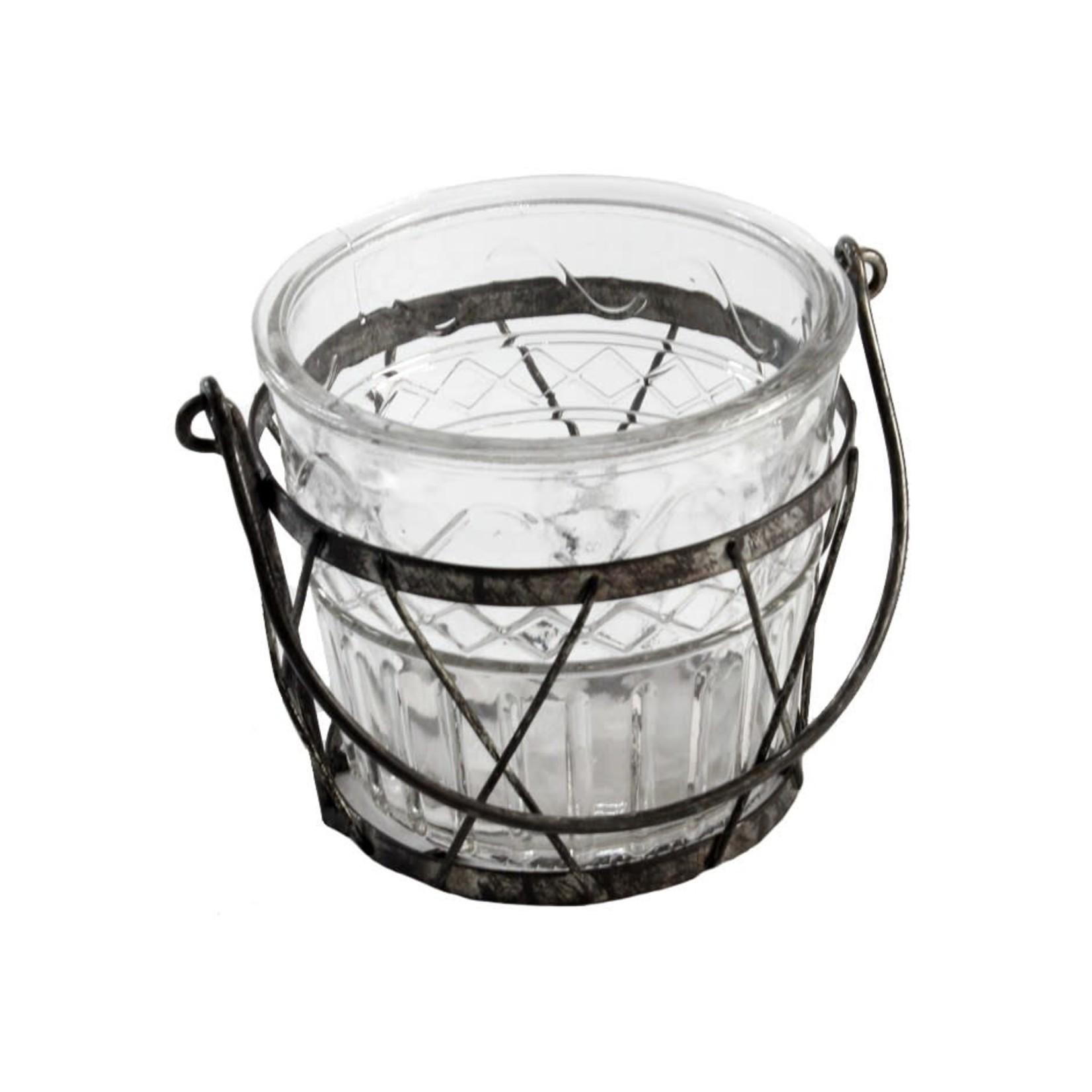 Glass Jar w/Handle