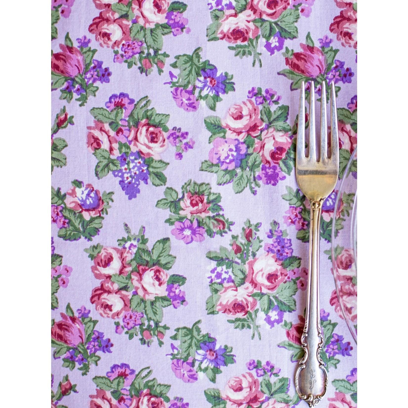Elizabeth's Garden Tablecloth - Lavender