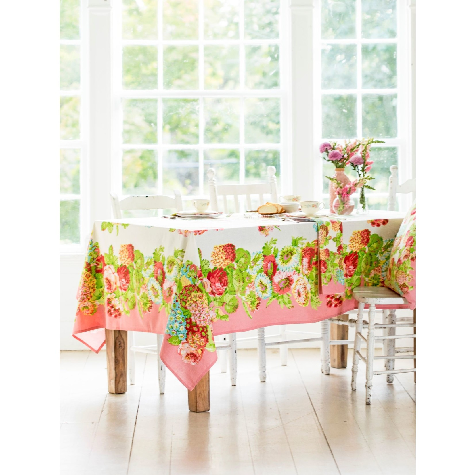 Spring Gathering Tablecloth - Coral