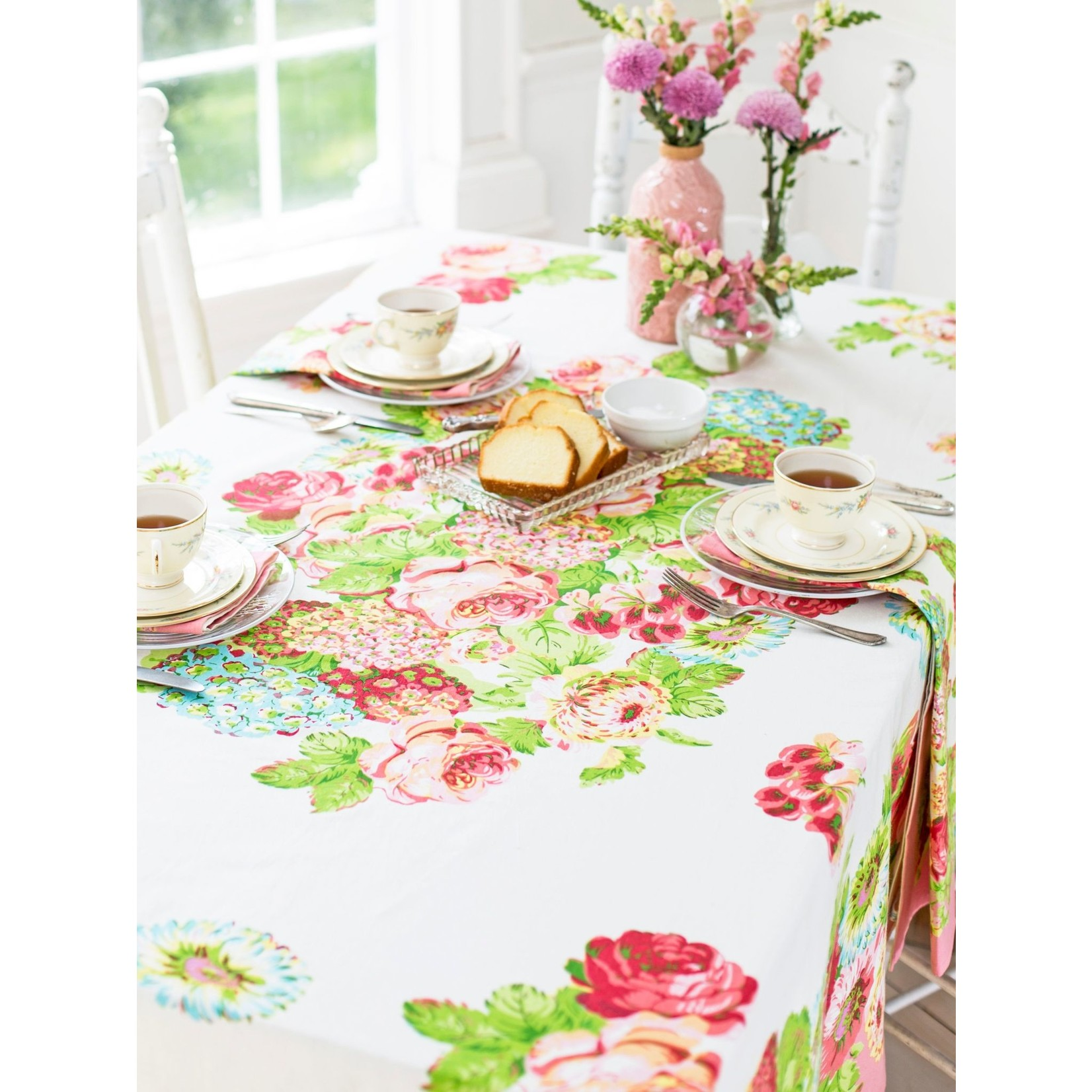April Cornell Spring Gathering Tablecloth - Coral