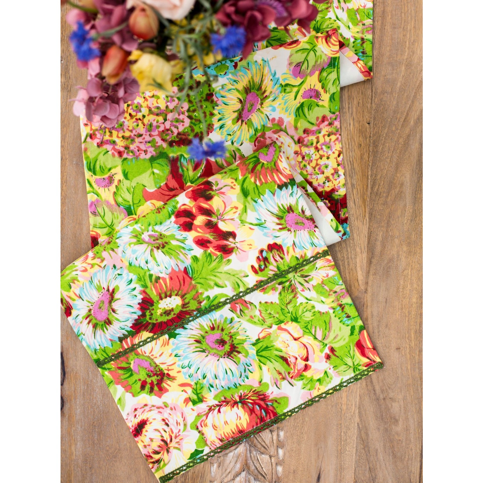 April Cornell Spring Gathering Table Runner - Coral