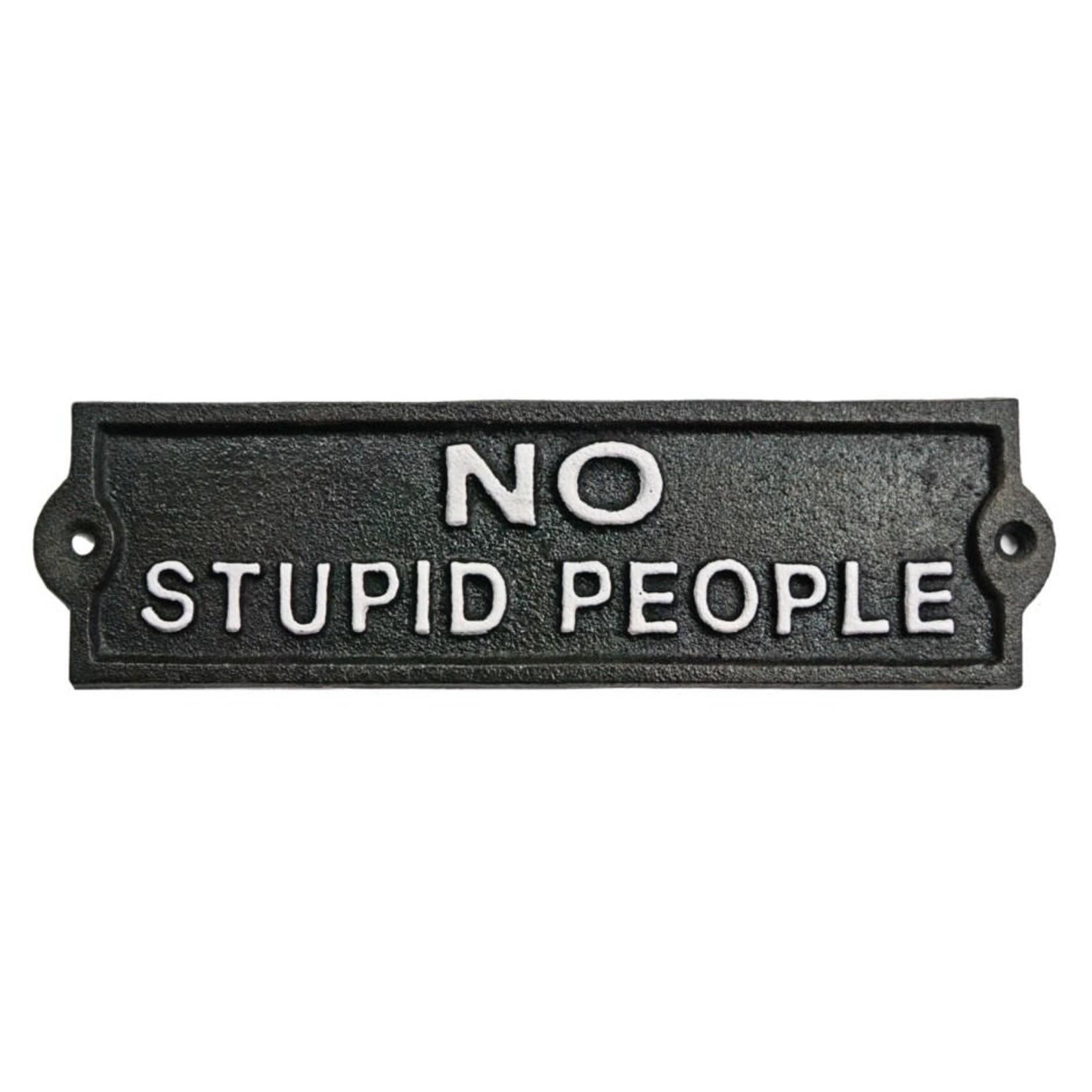 No Stupid People Black