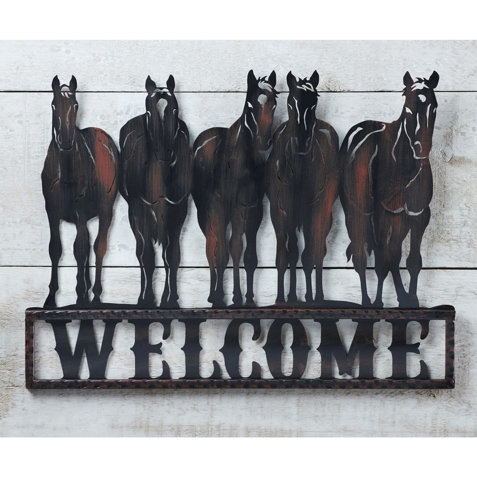 Metal Welcome Sign- Horses