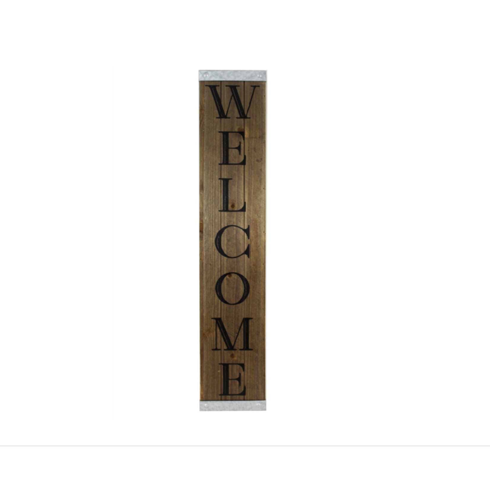 Wood & Metal Welcome Porch Sign