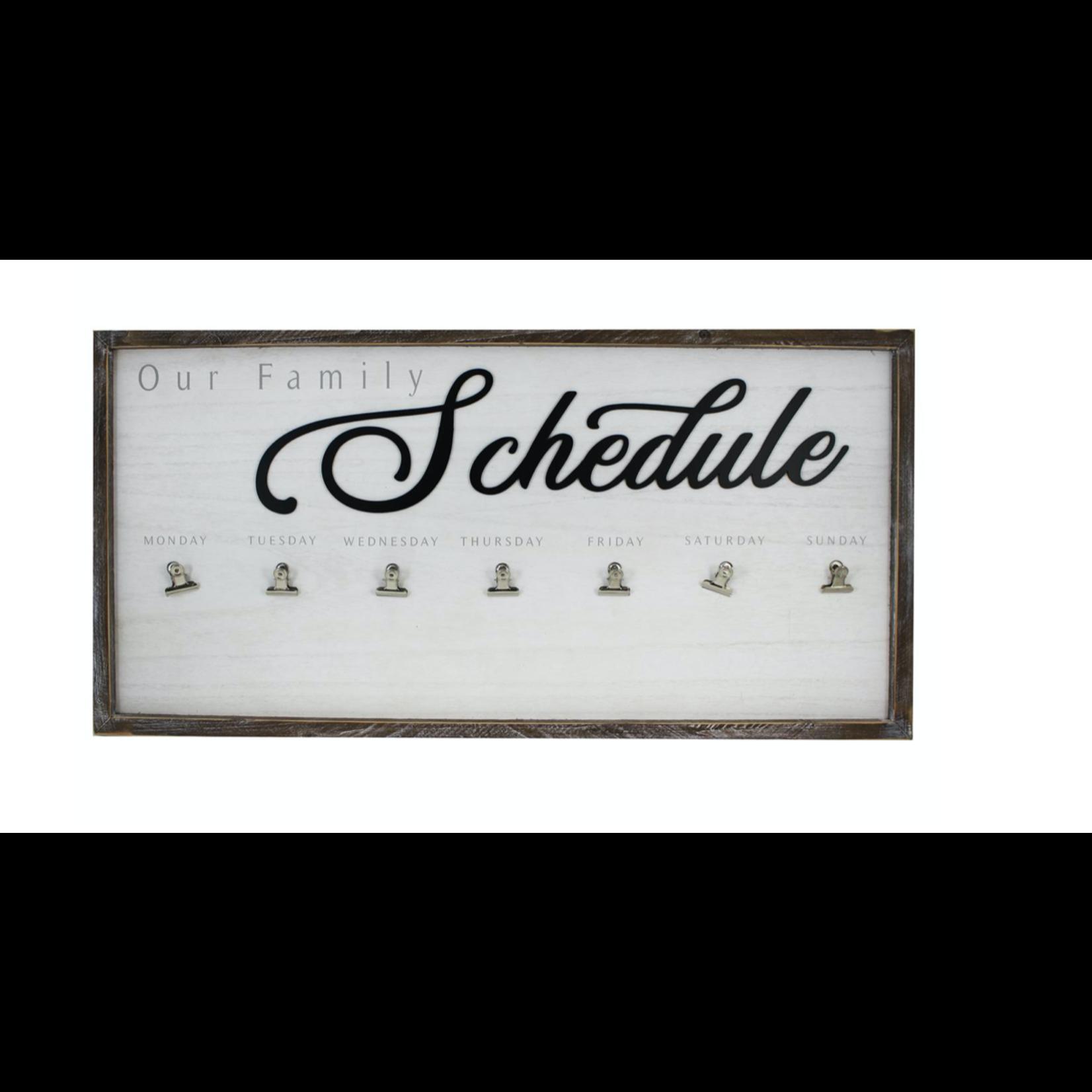 Wood Framed Schedule Board