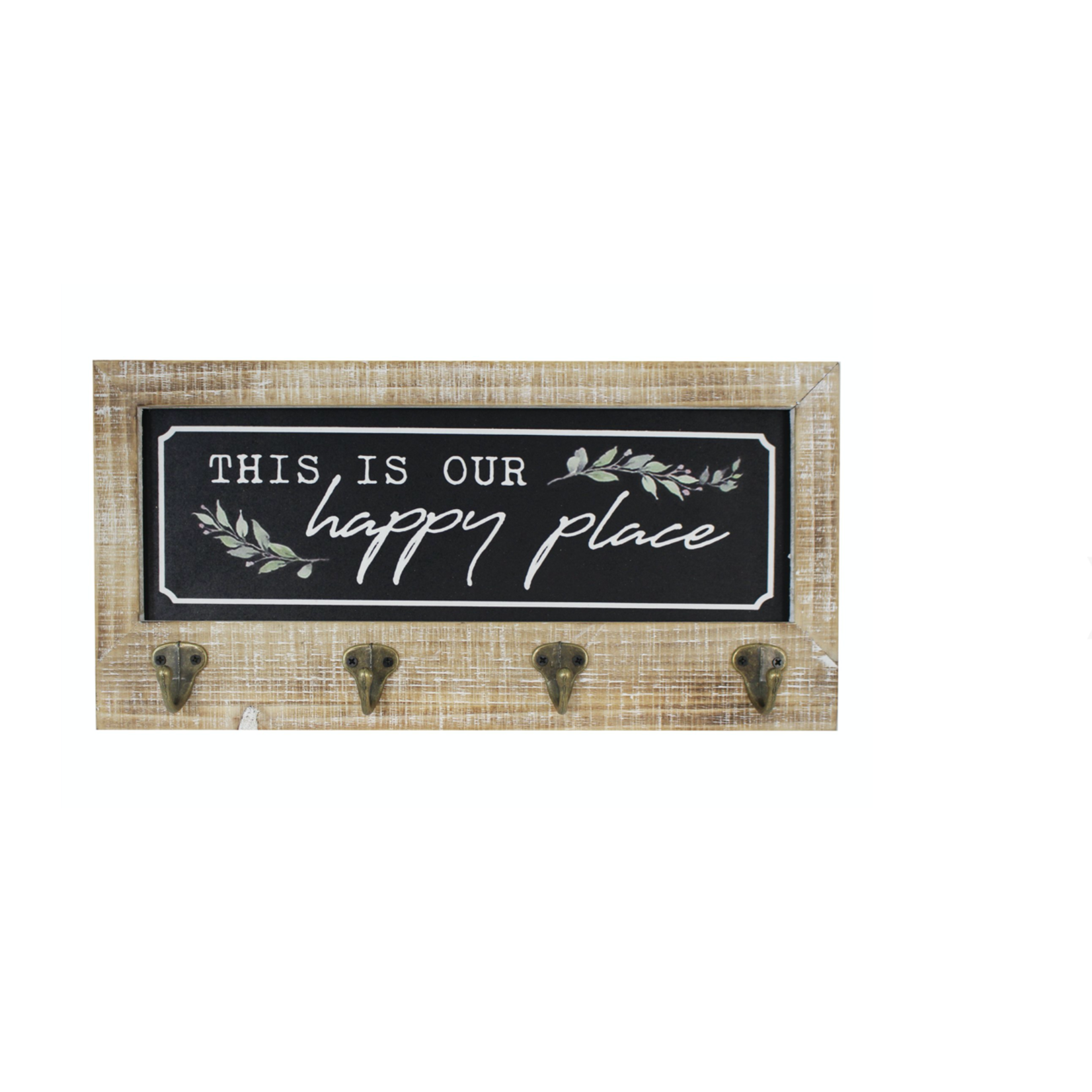 This Is Our Happy Place 4 Hook Wall Sign