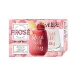 Rosé Wine Glasses w/Strawberry Frosé