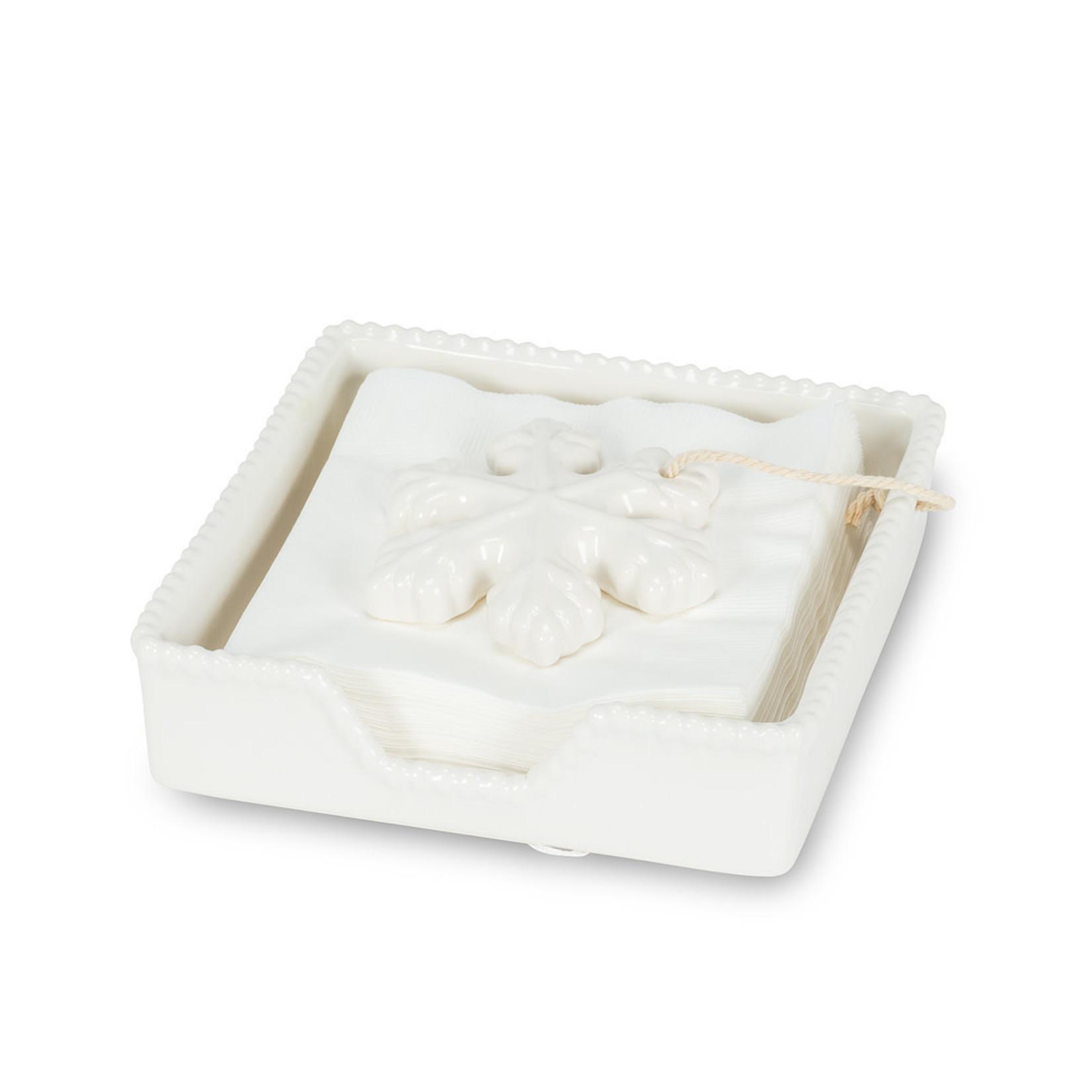 "Small - Snowflake Napkin Holder - 5.5"""