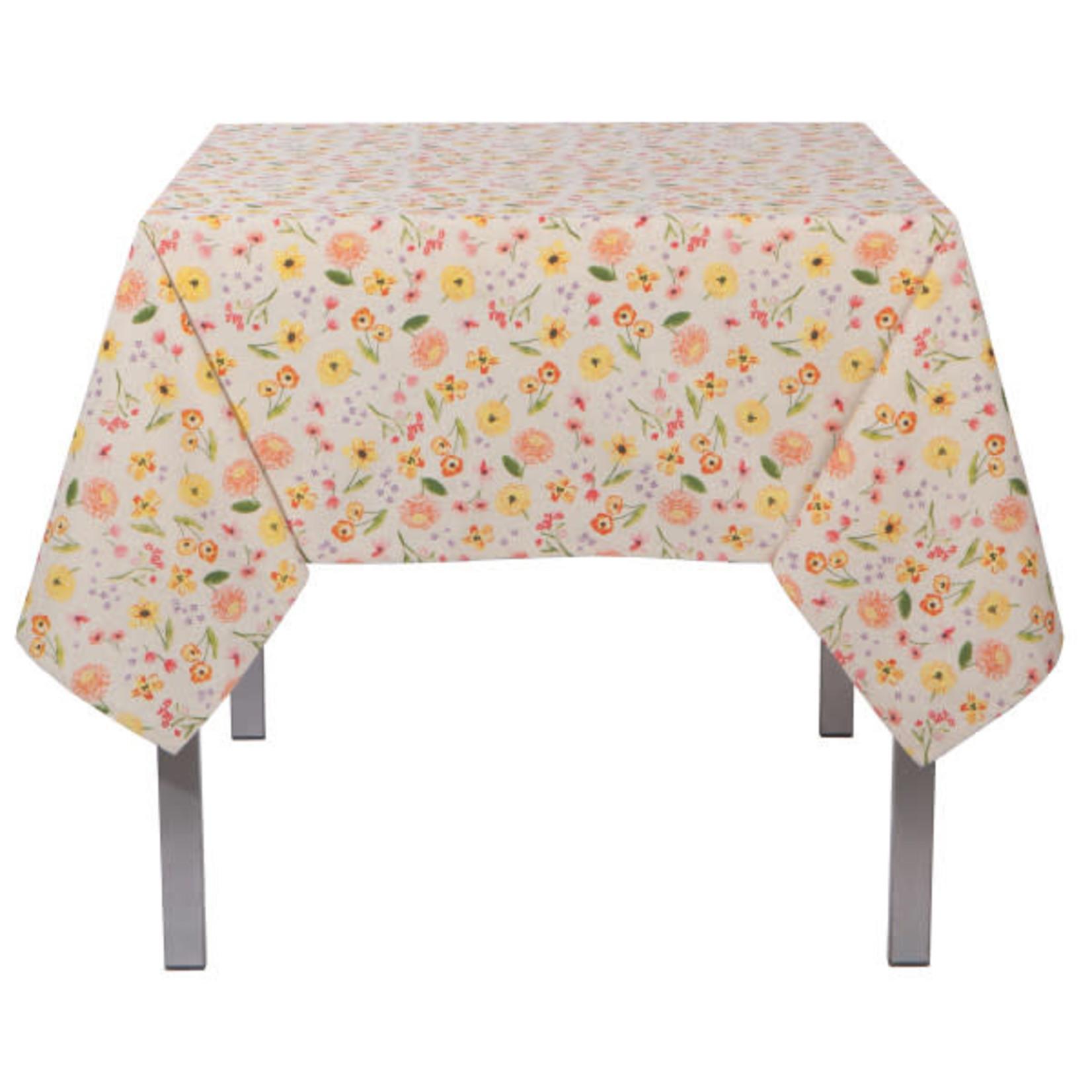 "Cottage Floral Tablecloth - 60 X 90"""
