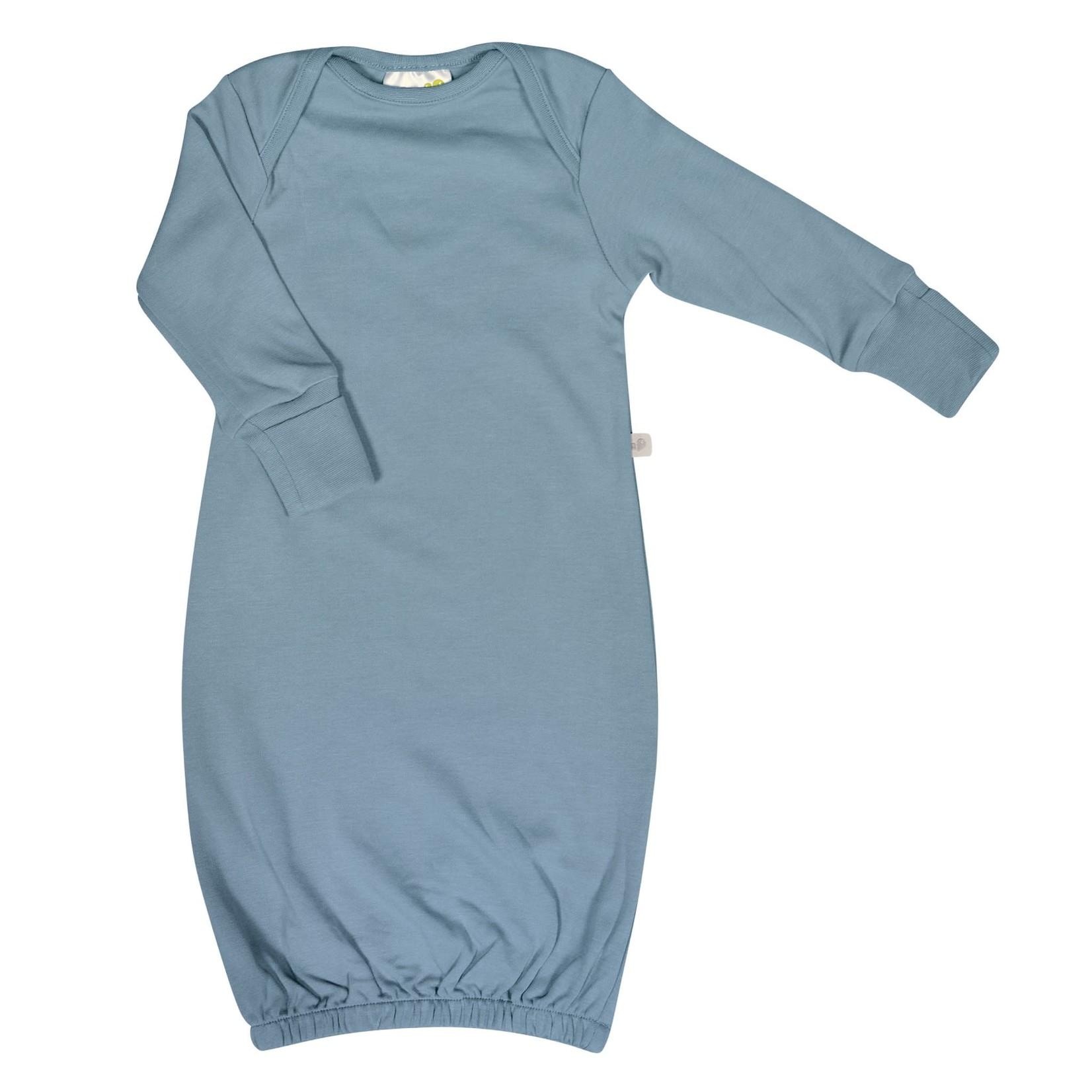 Bamboo Nightgown - Steel Blue - Newborn