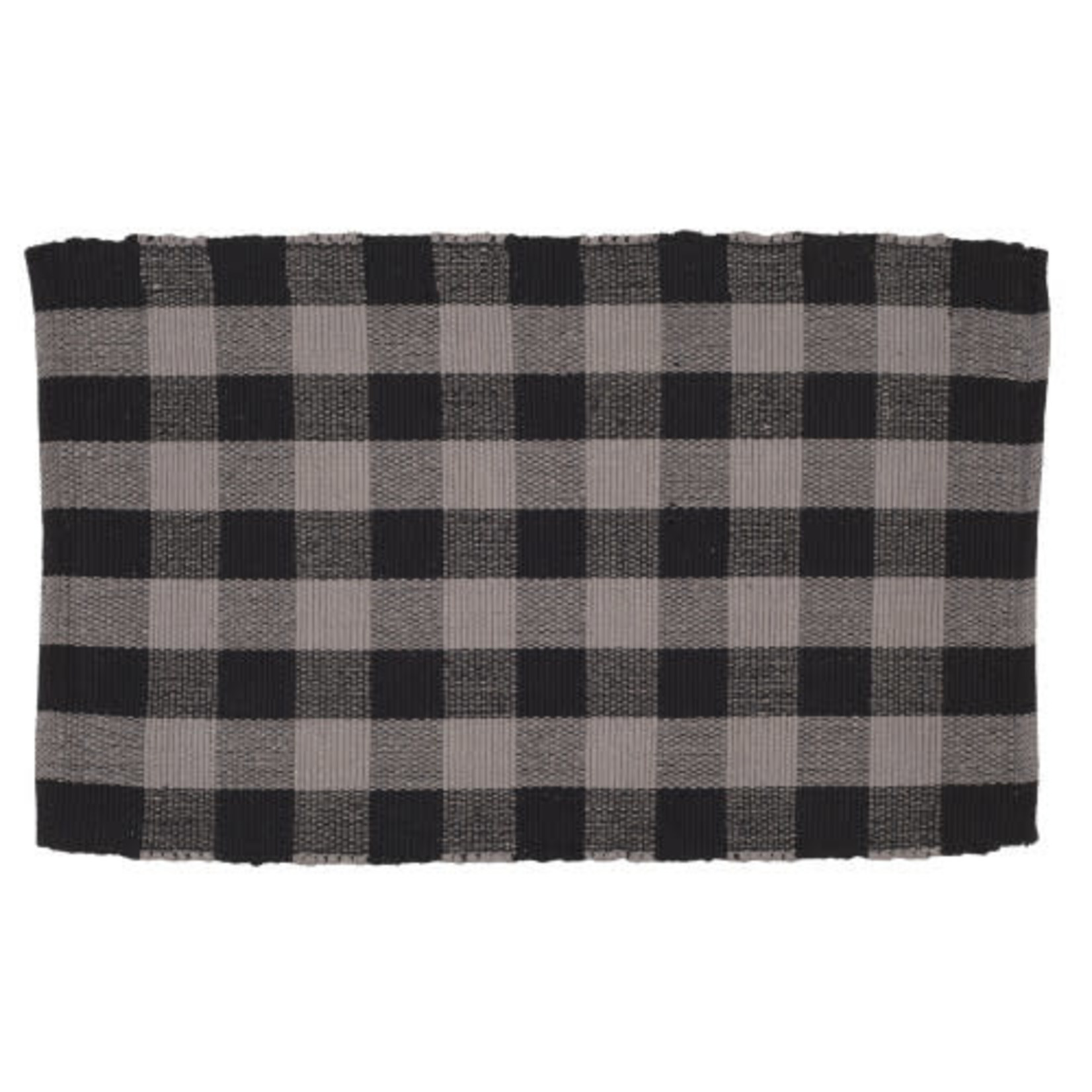 Floor Mat Ribbed - Buffalo Grey Plaid