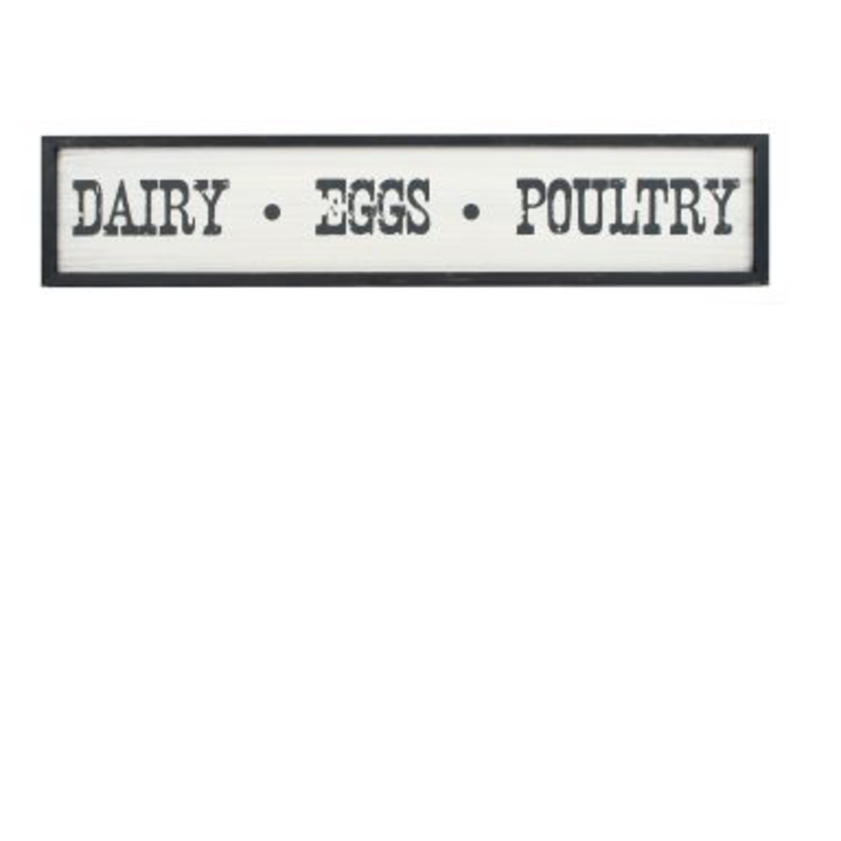 Dairy Eggs Poultry Sign