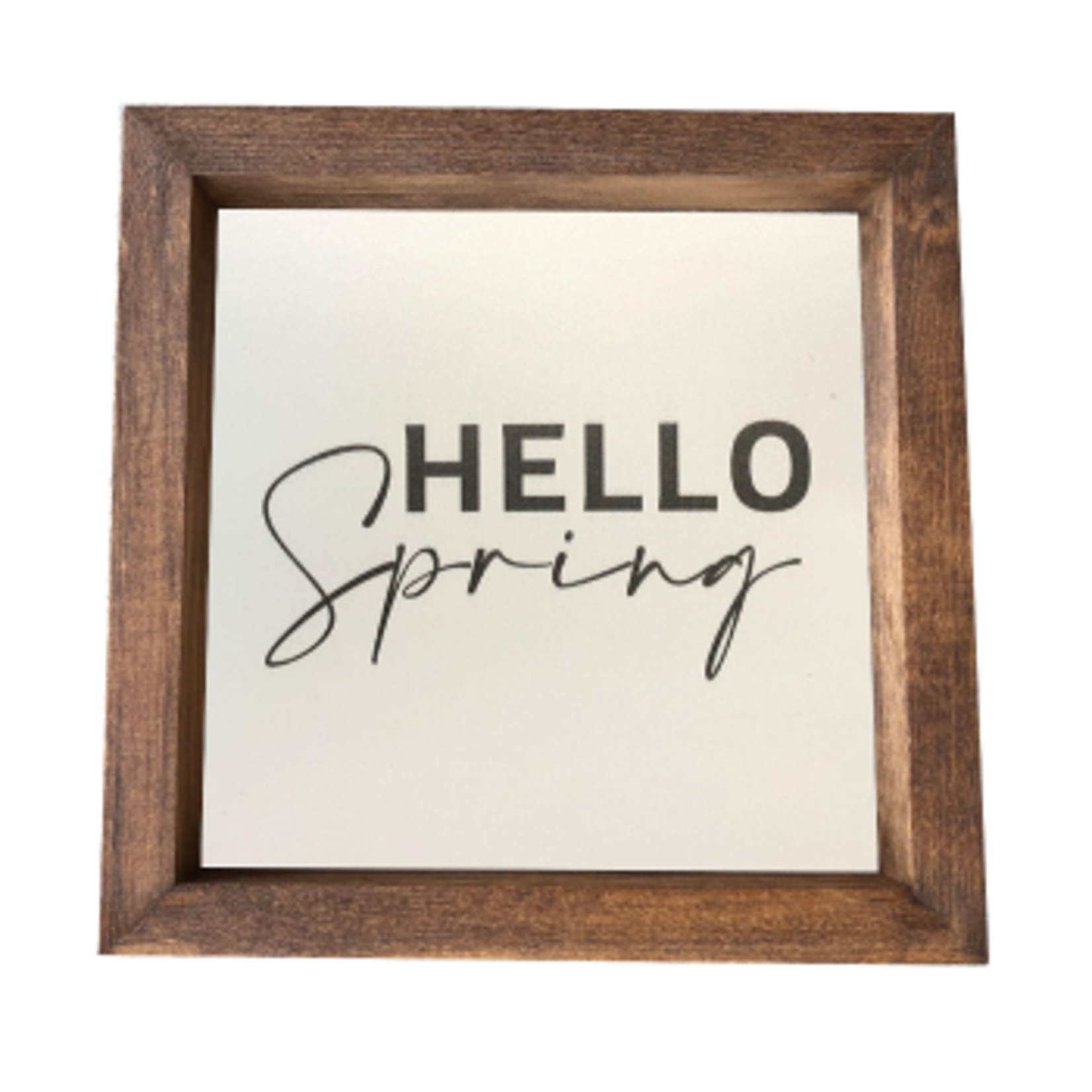 Hello Spring - Print - In Stained Box Frame