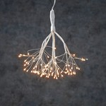 "LED Twinkling Dandelion B/O on timer 80L Warm White - 8"""
