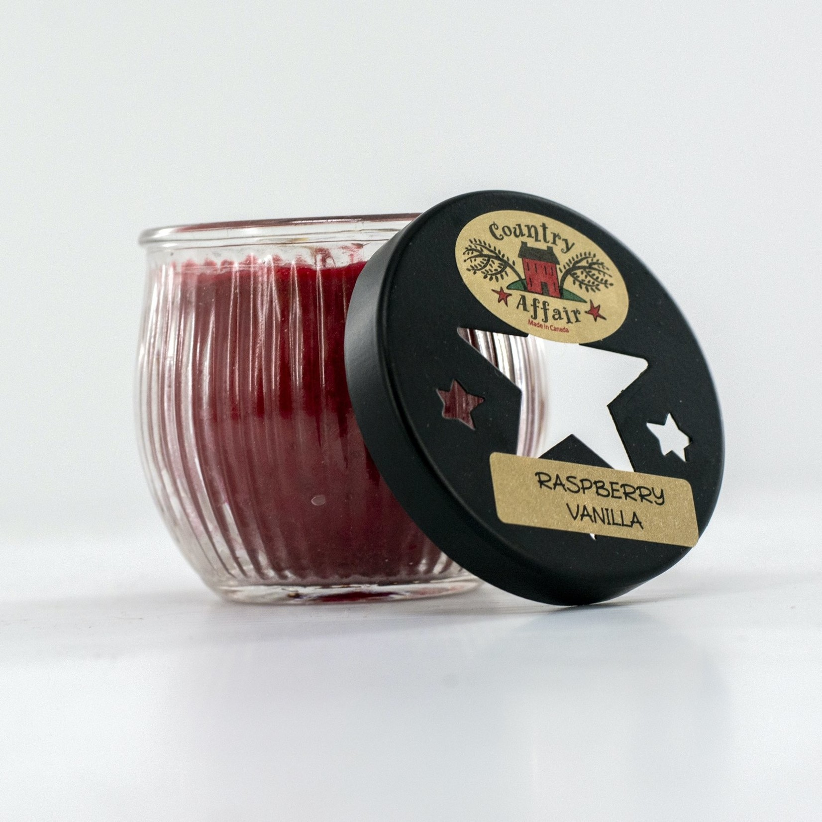 Ribbed Glass Jar Candle