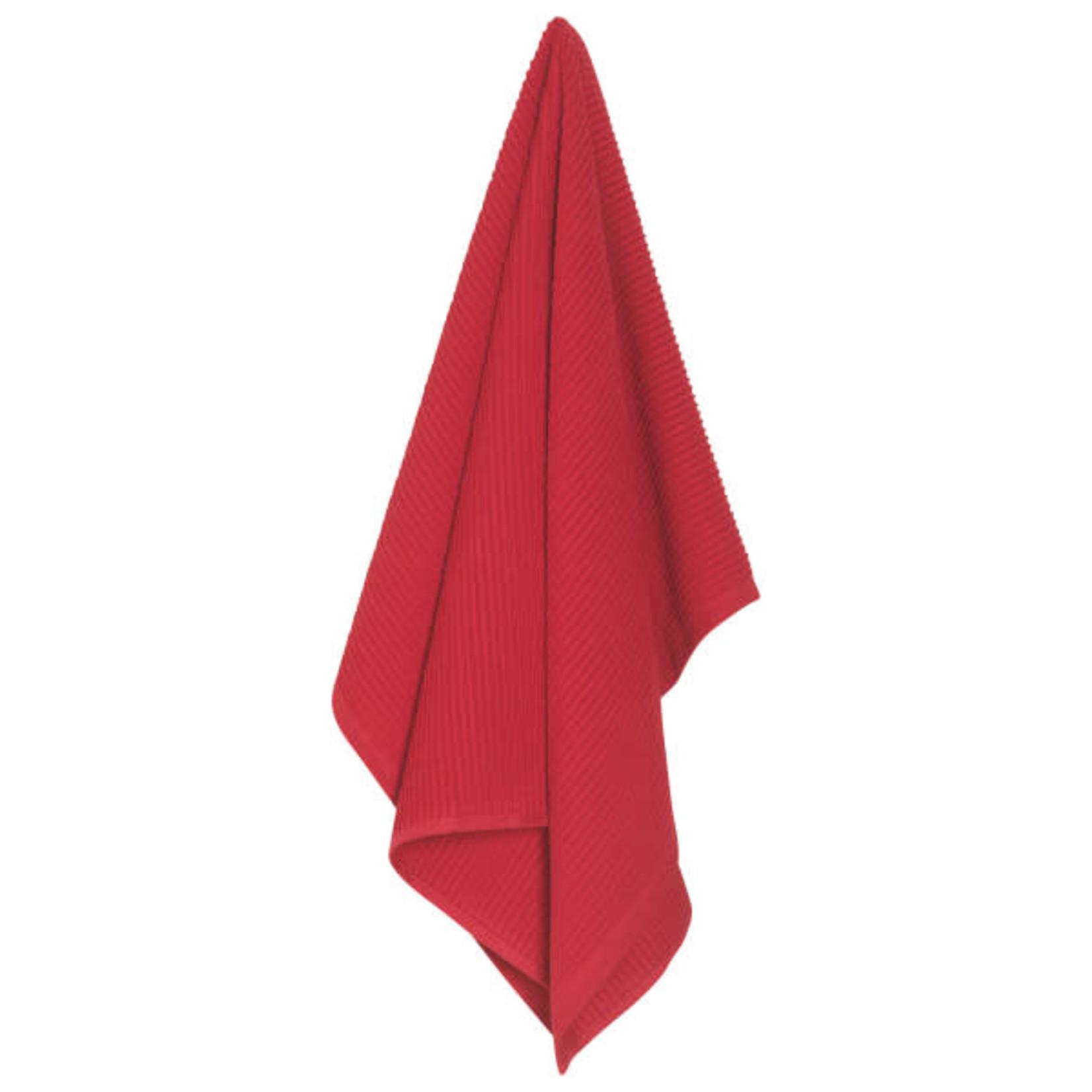Ripple Red Tea Towel