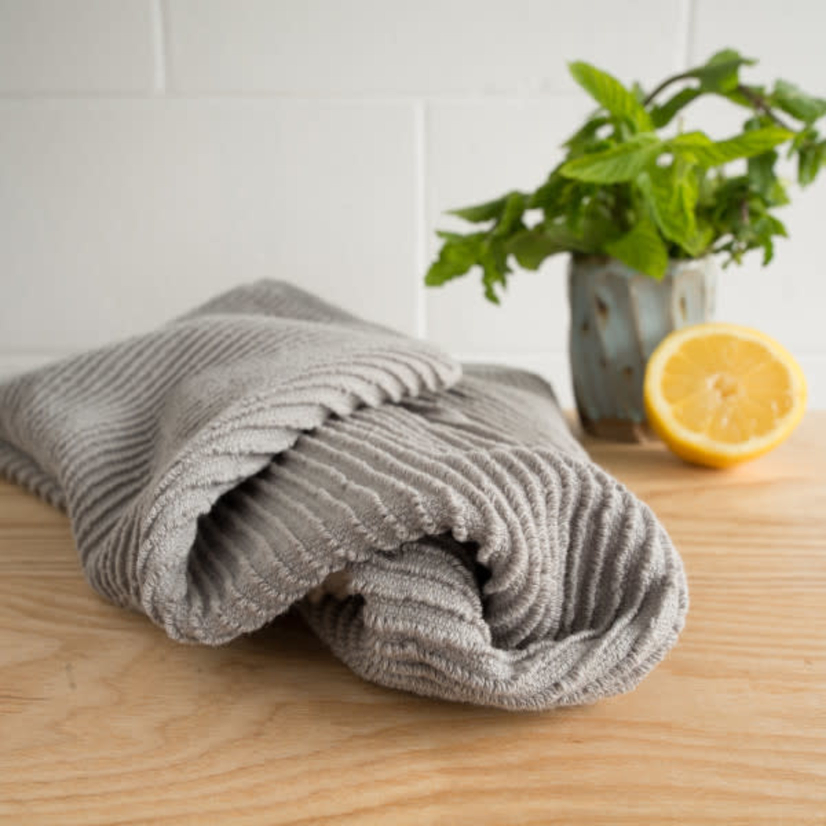 Ripple London Gray Tea Towel