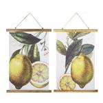 Lemon Rolled Canvas Wall Decor