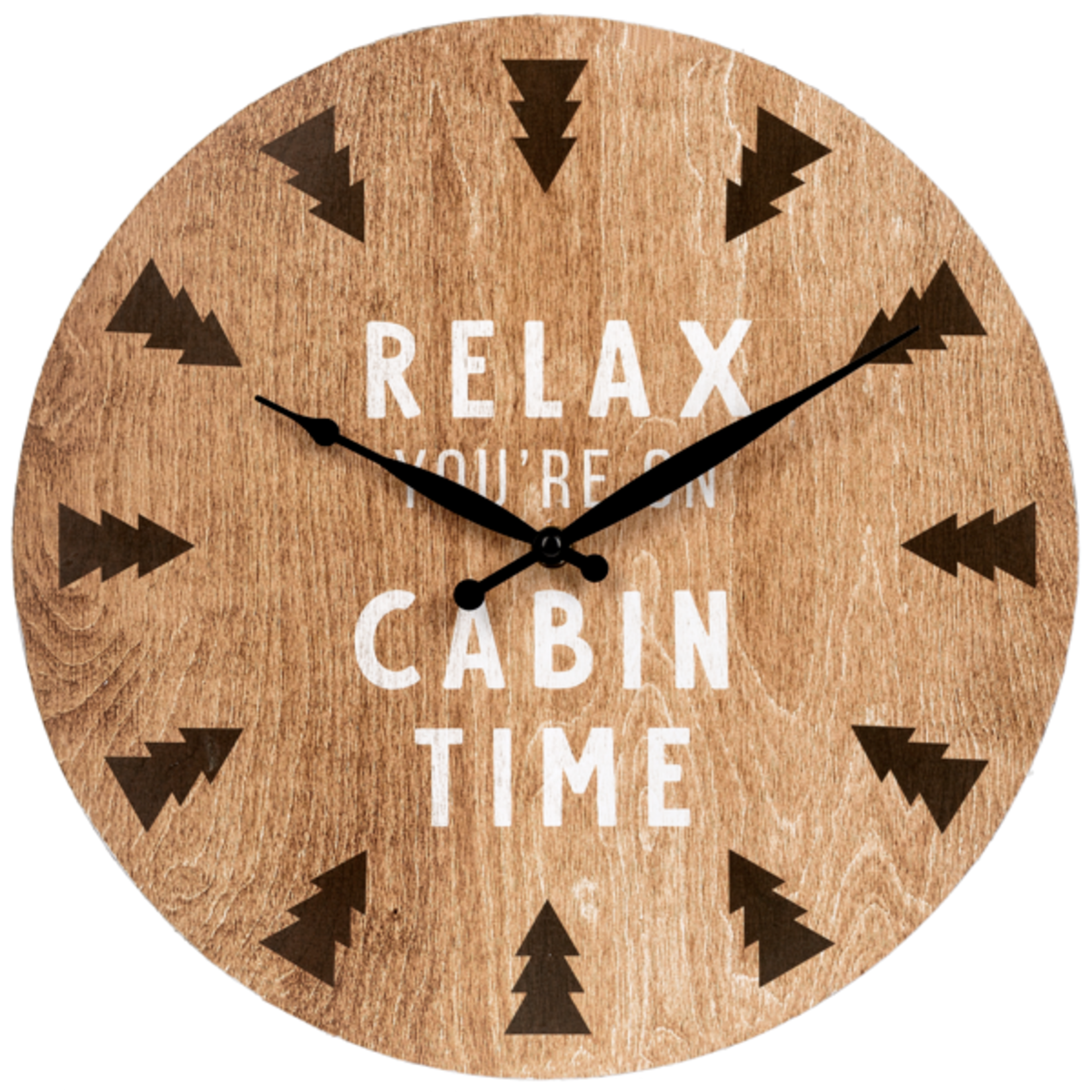 Cabin Time - Wall Clock