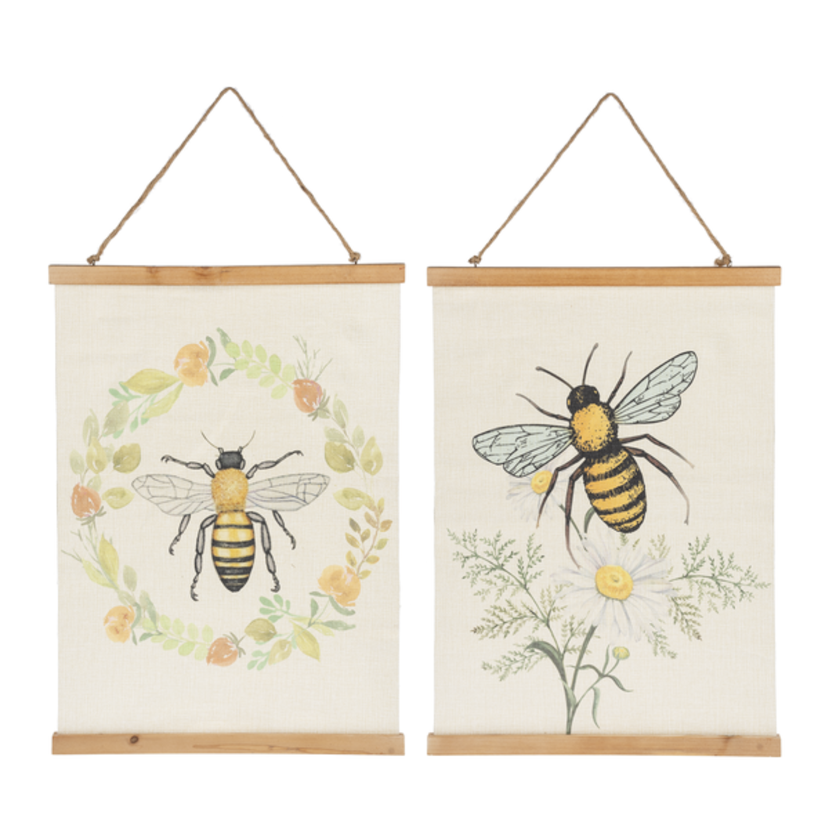 Bees Rolled Canvas Wall Decor