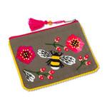 Bee & Blooms Zip Pouch
