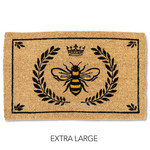 Bee In Crest Doormat - (Extra Large)