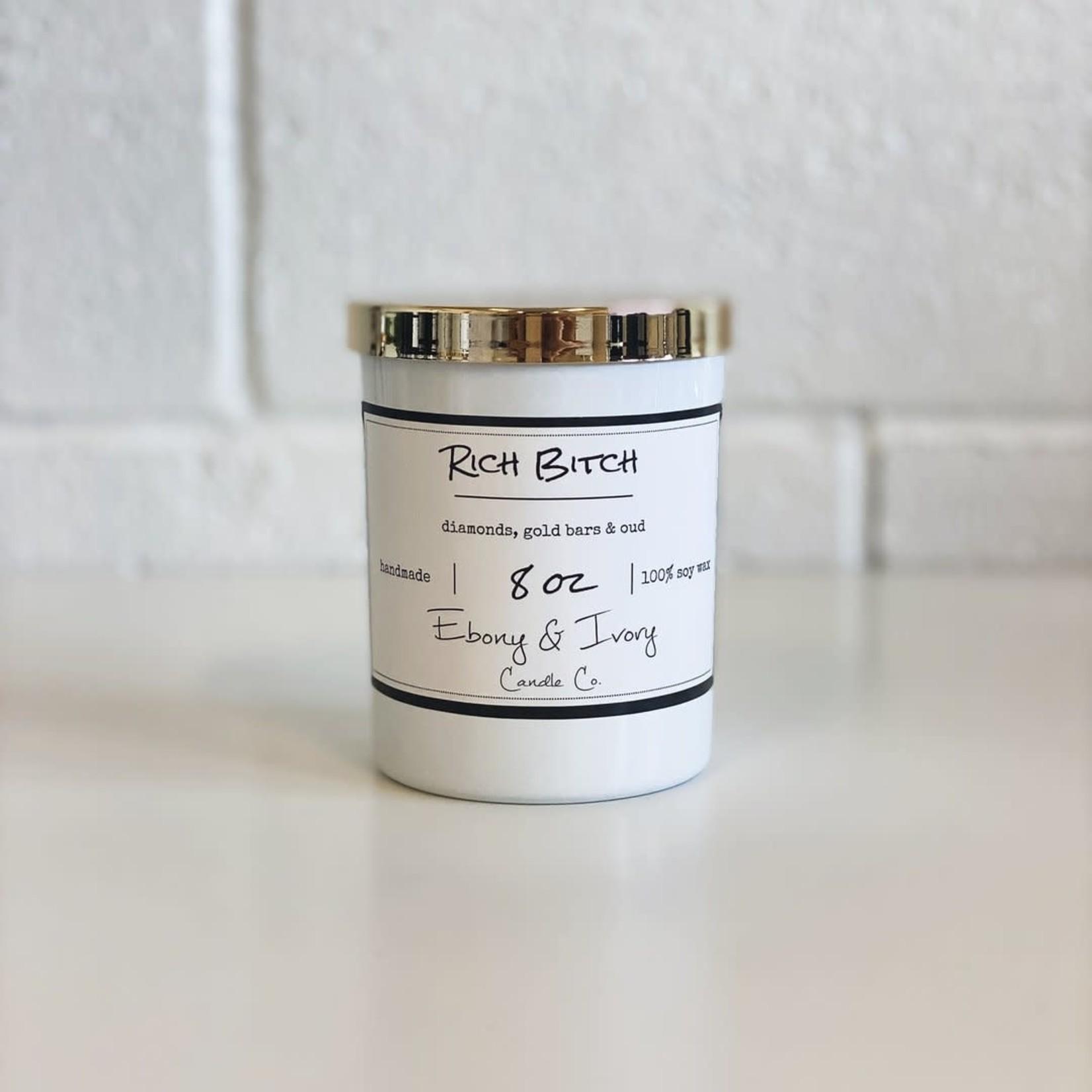 Ebony & Ivory Candle - Rich Bitch