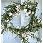 Olde Thyme Daisy Cotton Wreath