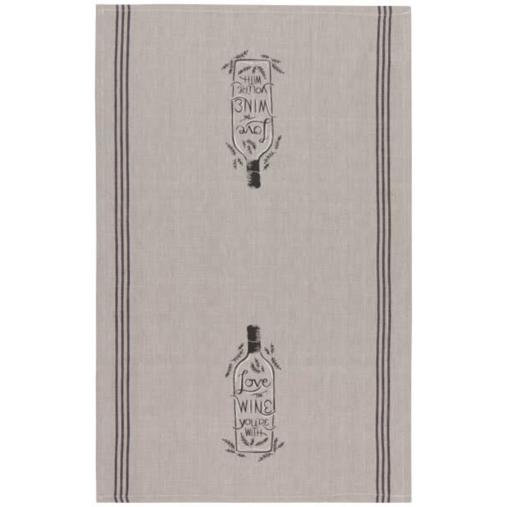 Chambray Wine You're With - Tea Towel
