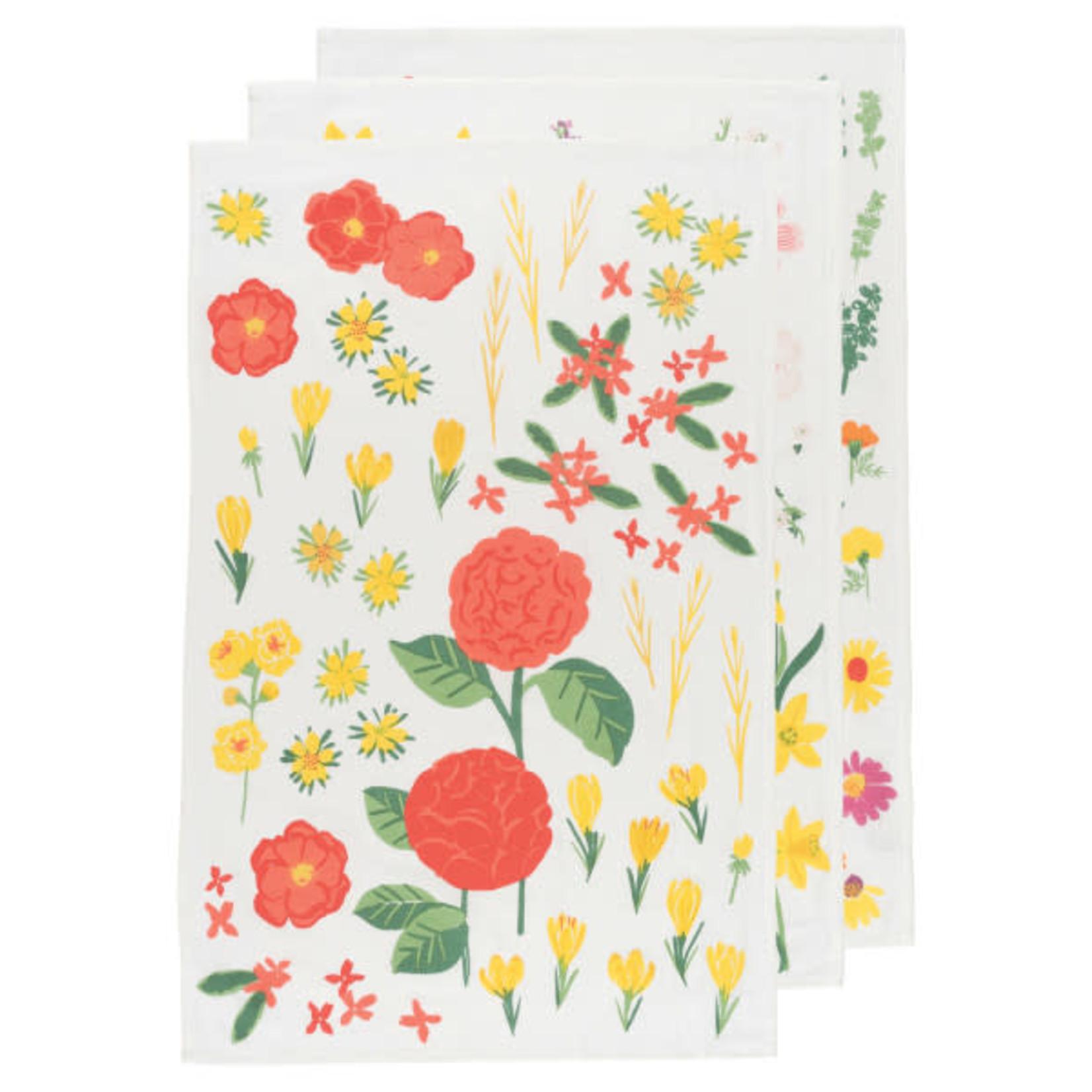 Bakers Flour Flowers - Tea Towel - Set Of 3