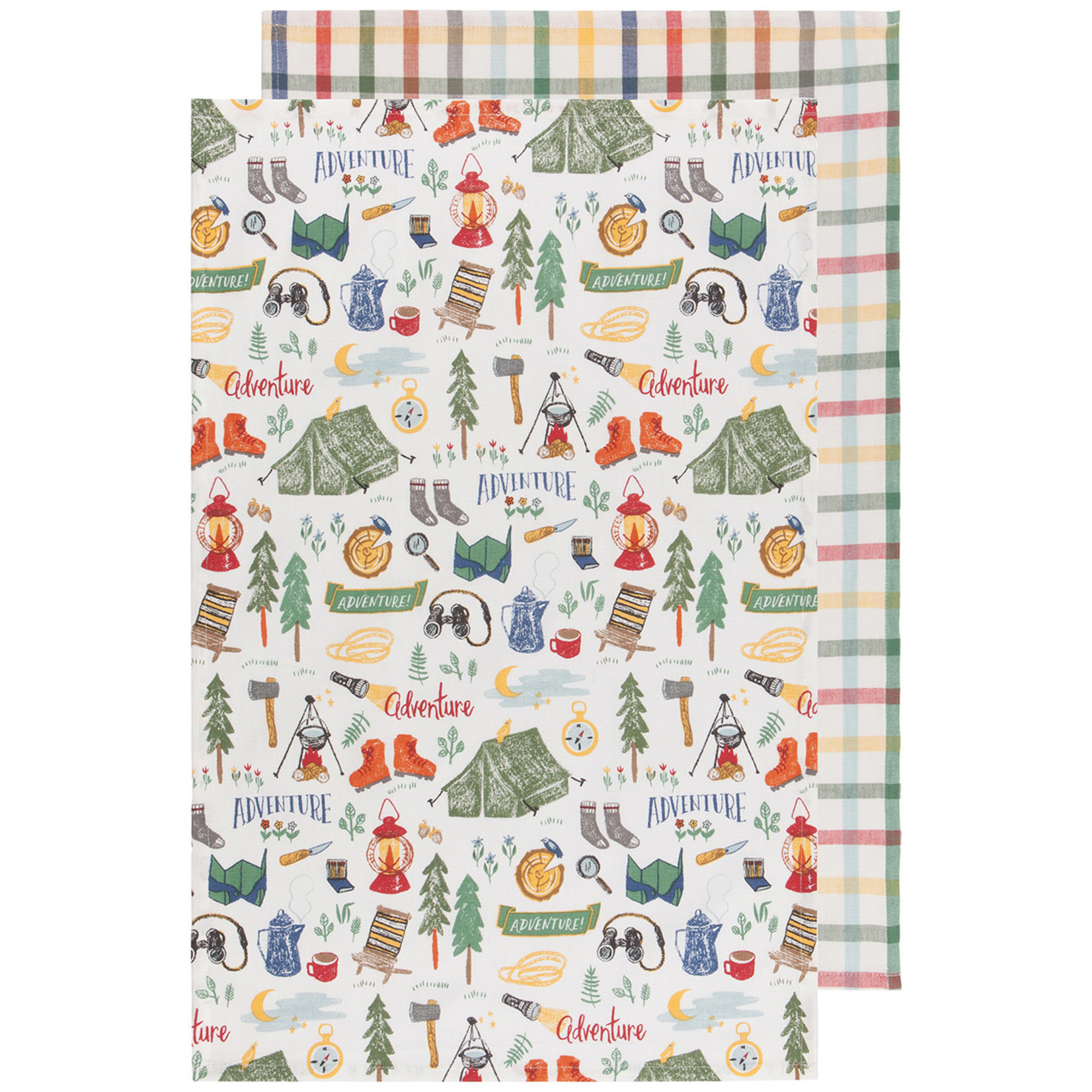 Out & About - Tea Towel - Set Of 2