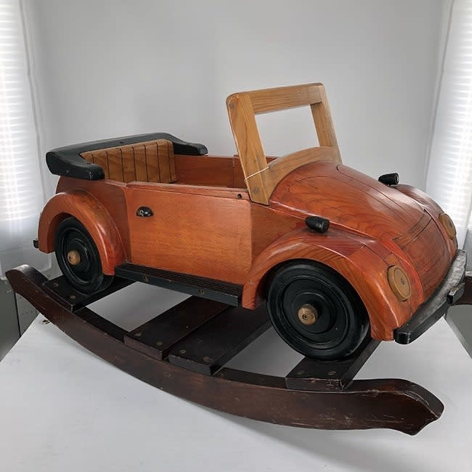 Wooden Rocking Bug Car