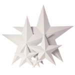 Pure White Metal Star