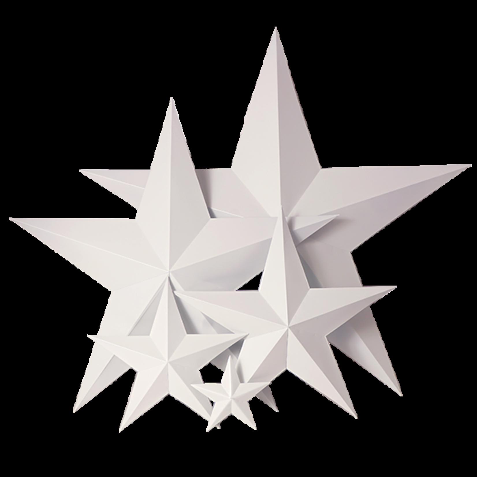Pure White Metal Star