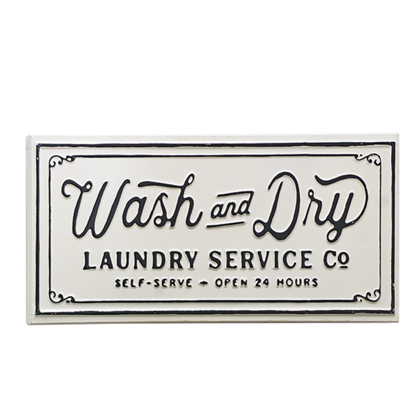 Wash & Dry Metal Sign