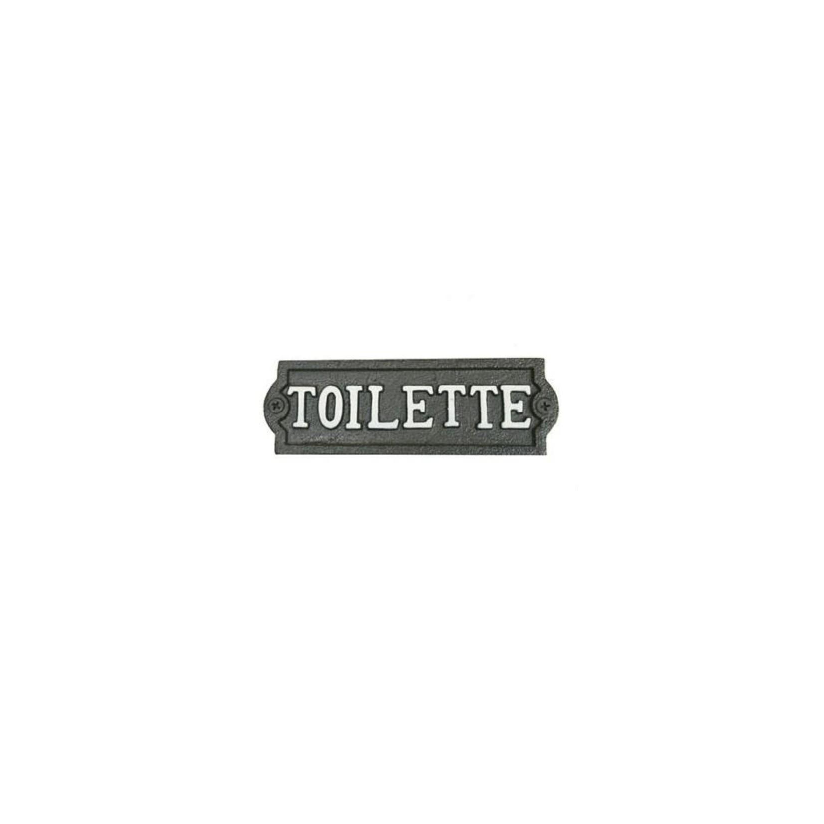 Toilette - Cast Iron Sign