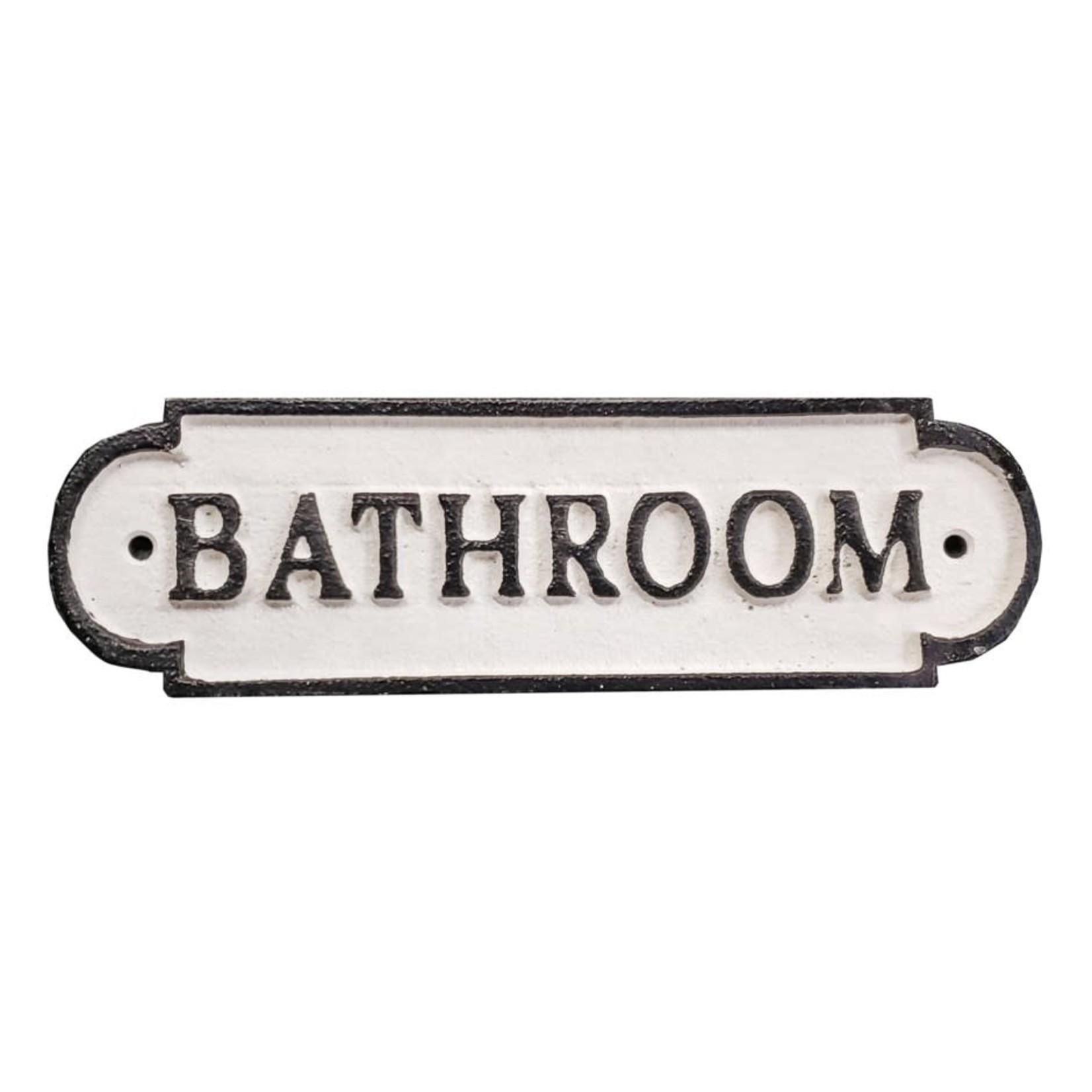 Cast Iron Sign - Bathroom