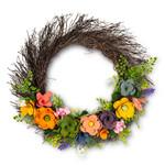 Rustic Flower Twig Wreath