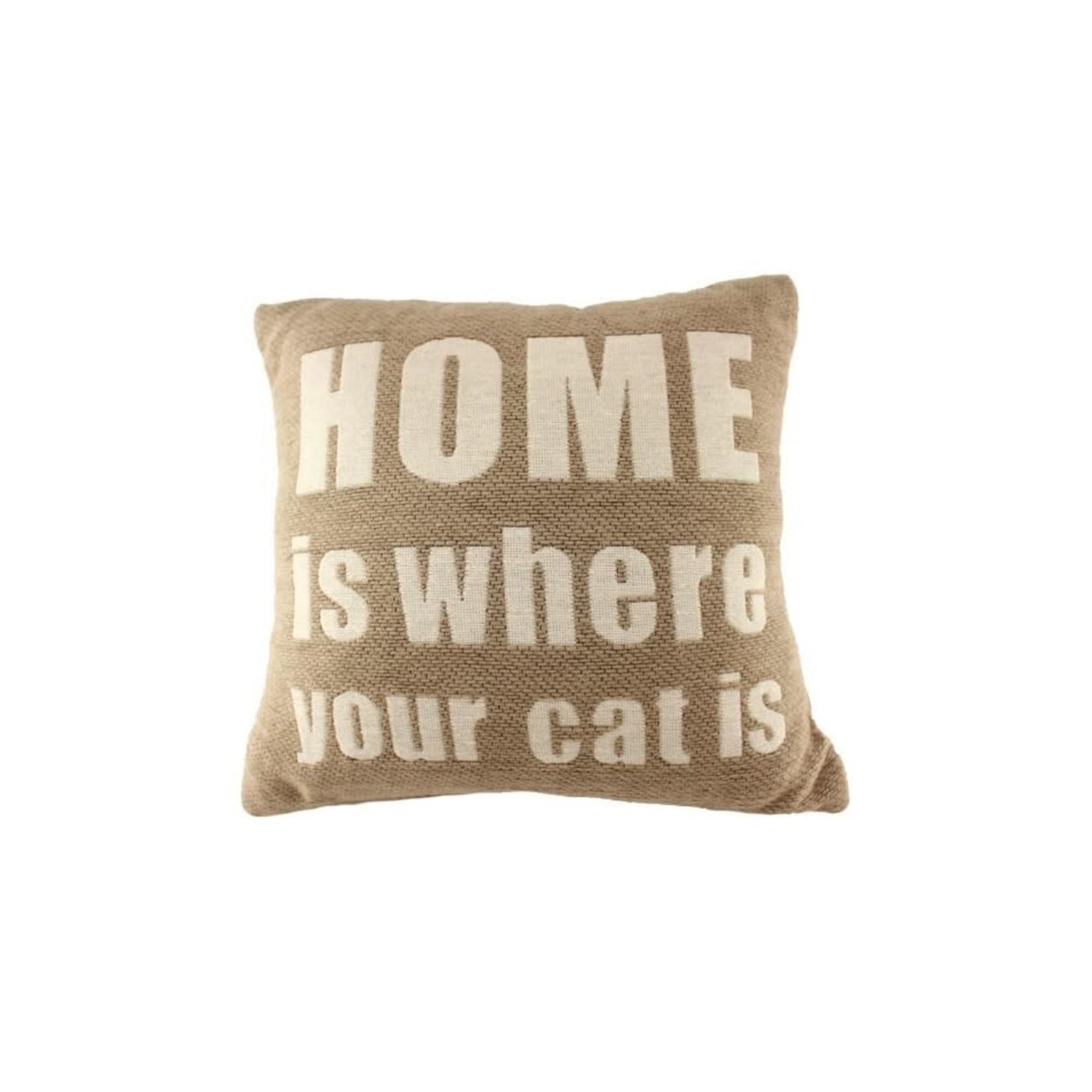 Cat Home Pillow