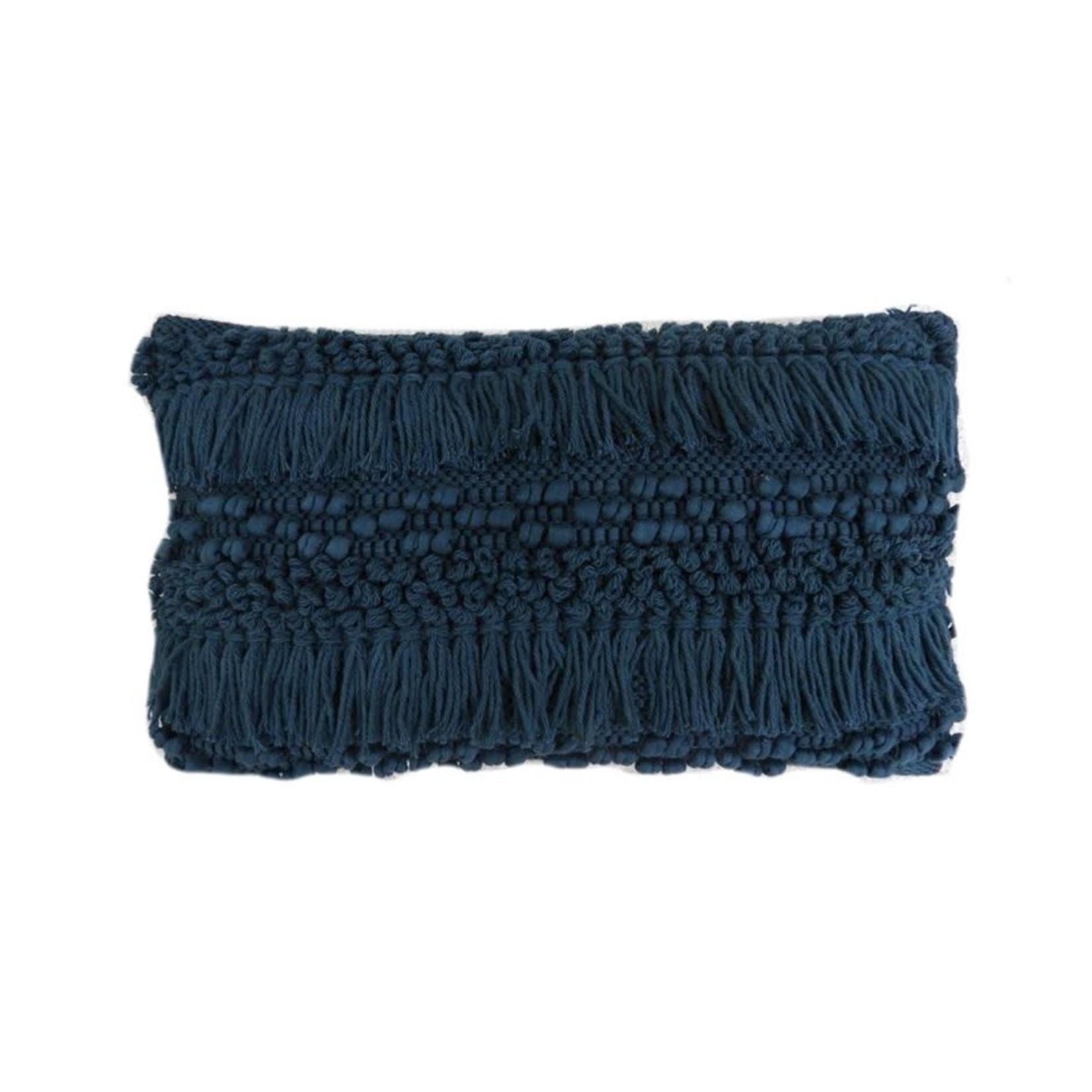 Blue Shag Lumbar Pillow