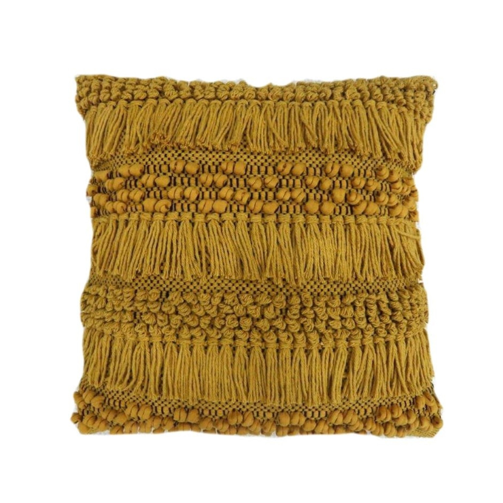 Ochre Shag Square Pillow