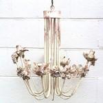 Cream & Pink Chandelier w/Flowers
